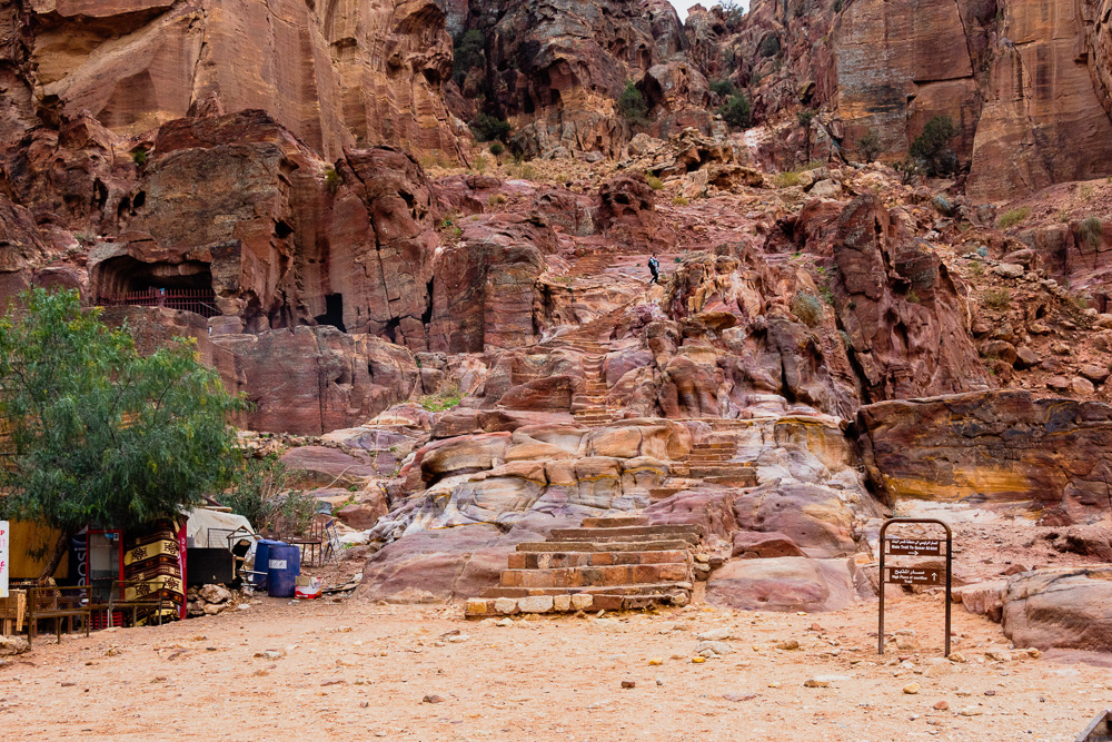 Start of the trail to the High Place of Sacrifice, Petra, Jordan