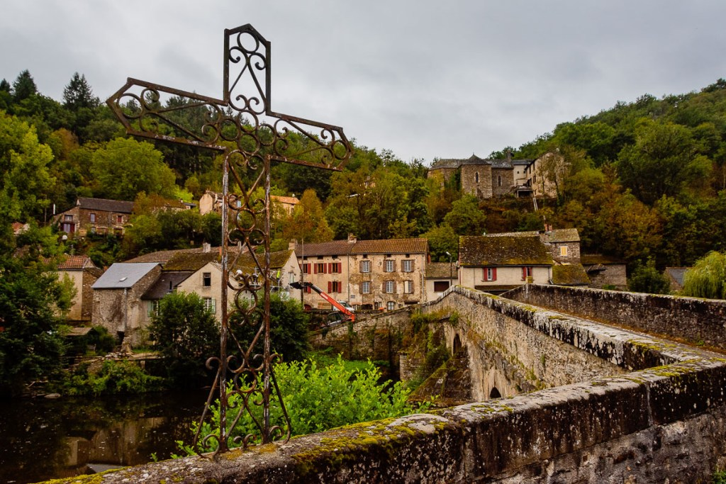 View of Pont de Cirou in Occitanie, Southern France