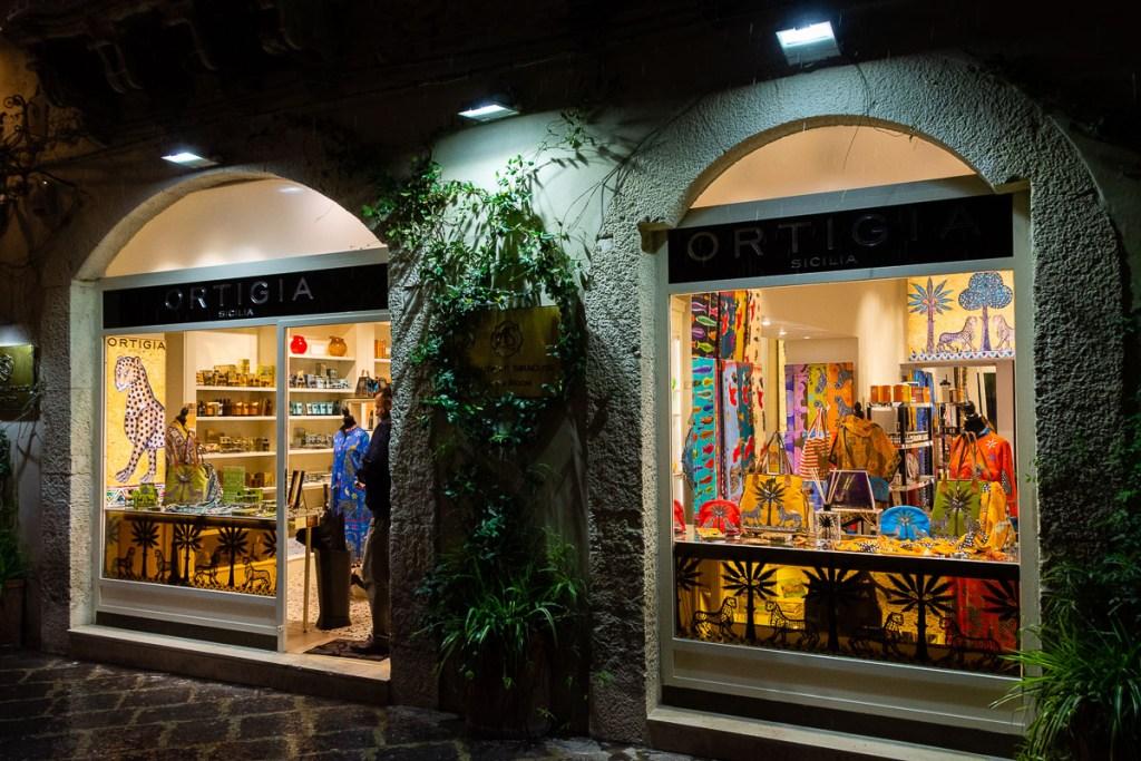 The Ortigia Sicilia shop in Ortigia