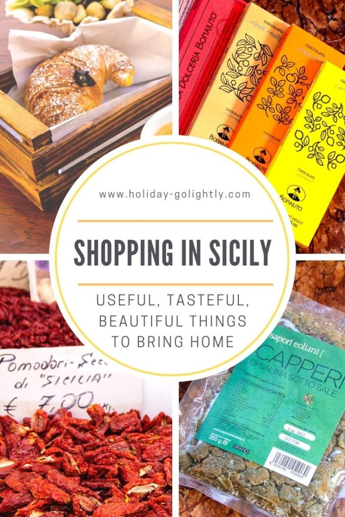 Shopping in Sicily pin