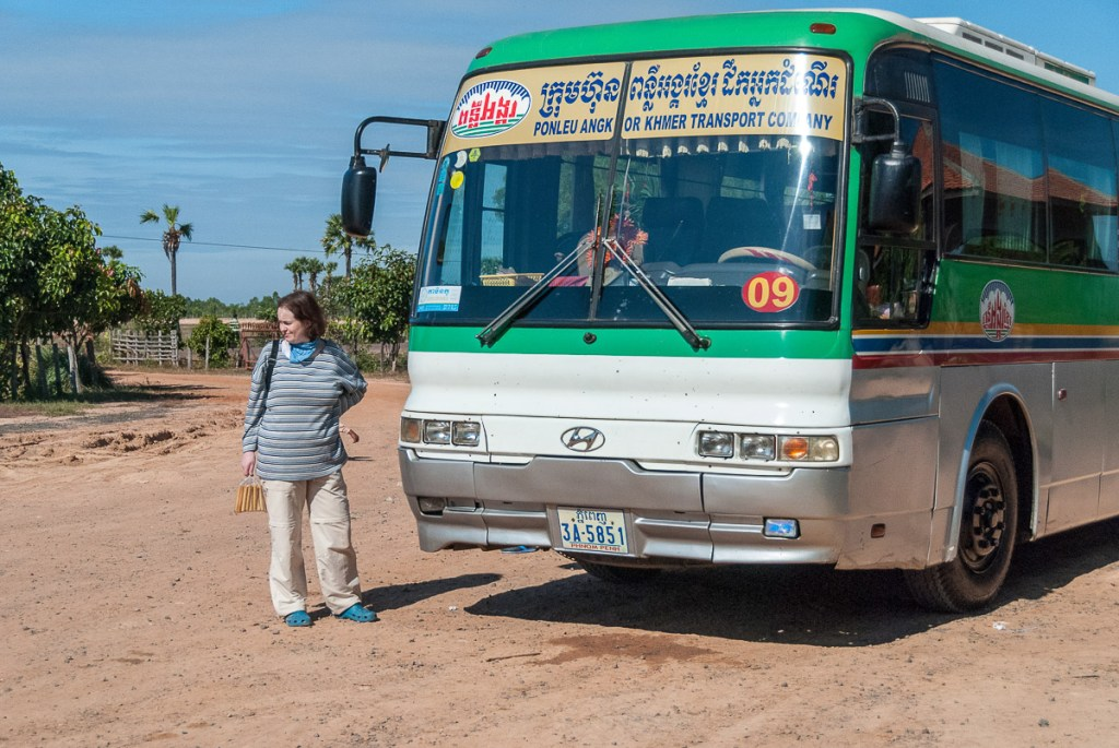 Bus from Siem Reap to Angkor Wat