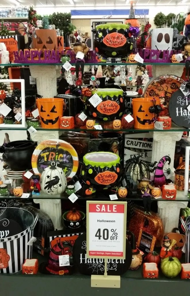 if you prefer the cute and fun halloween decorations hobby lobby is definitely the place to shop check out this decor