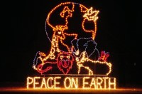 Outdoor Christmas Lights Peace On Earth ...