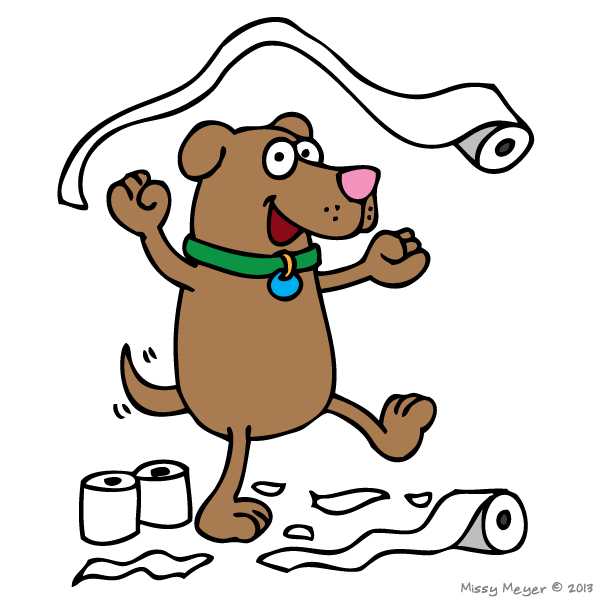 August 26, 2013: National Dog Day; Toilet Paper Day   Holiday Doodles!