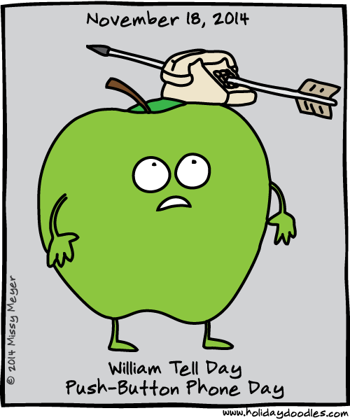 November 18, 2014: William Tell Day; Push-Button Telephone Day