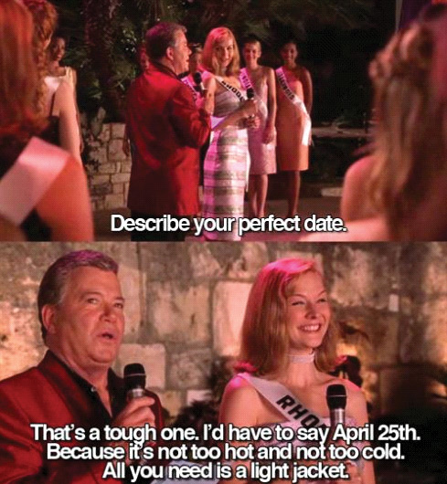 April 25: The Perfect Date