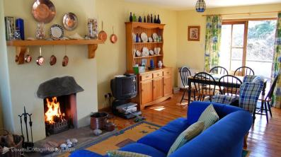Main living area of Skylark Cottage