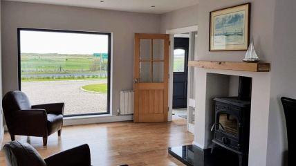 The first living area enjoys coastal views