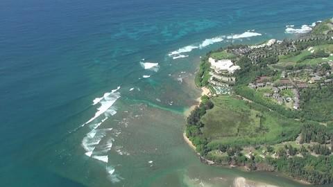Отдых на Гавайских островах, городок Ханалей на острове Кауаи