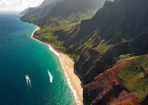 Отдых на Гавайских островах, Кауаи, побережье Напали