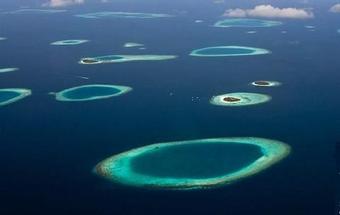 Мальдивские острова, отдых - вид с высоты птичьего полета