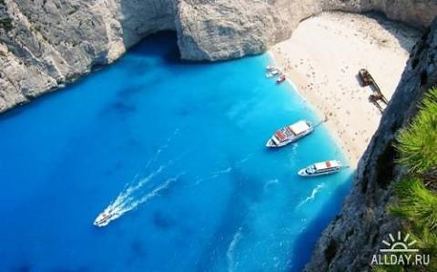 Отдых на островах Греции, Бухта Навагио - уникальное место острова Закинф