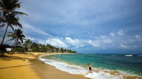Отдых на Гавайских островах, южное побережье Кауаи, пляж Poipu