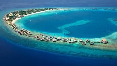 Мальдивские острова, отдых - атоллы вид сверху