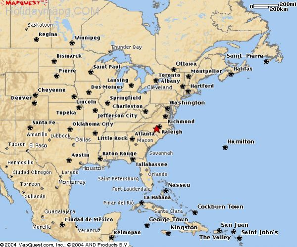 Map of east coast usa Holiday Map Q HolidayMapQcom