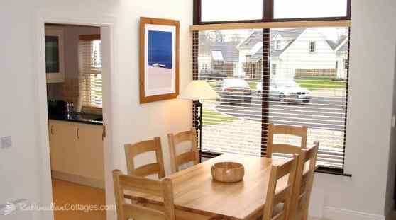 Dining area of Clearwaters Holiday Home