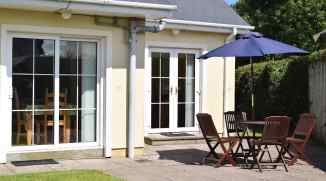 Rear patio of Milltown Mews Holiday Home Rathmullan