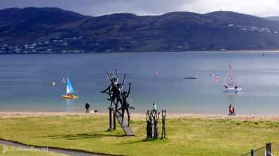 Flight of the Earls Sculpture in Rathmullan