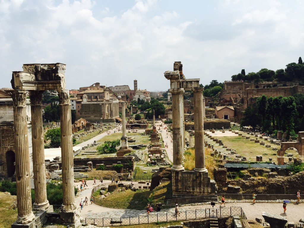 Columns standing in the roman forum