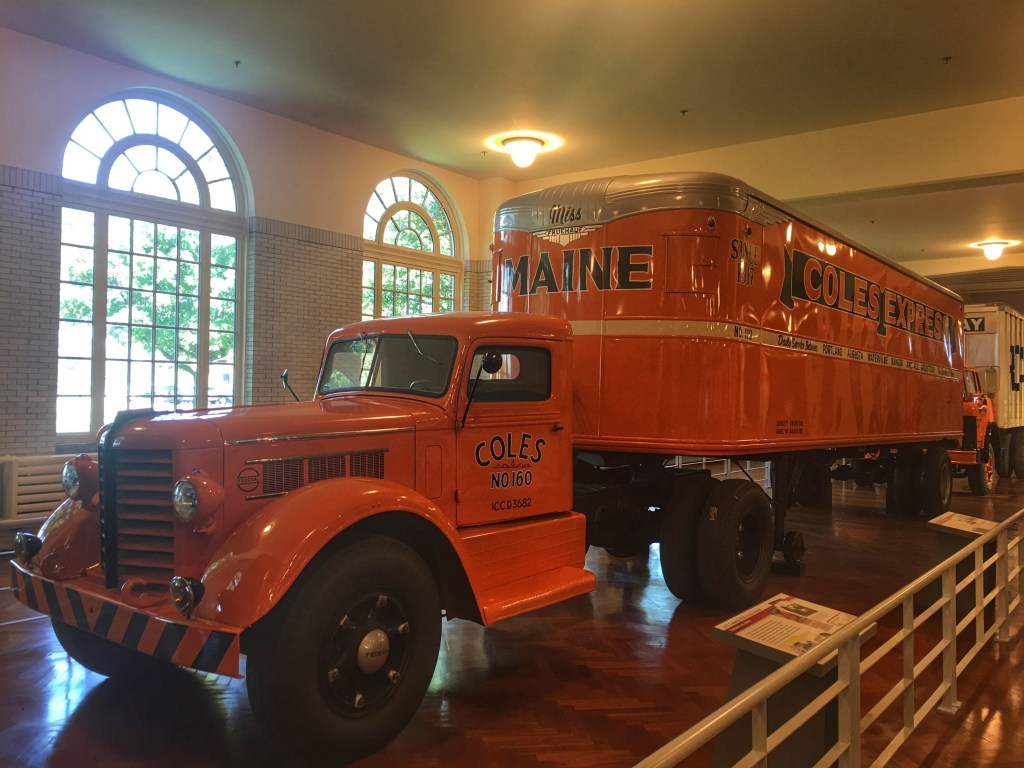Early Orange Semi truck at the Henry Ford Museum