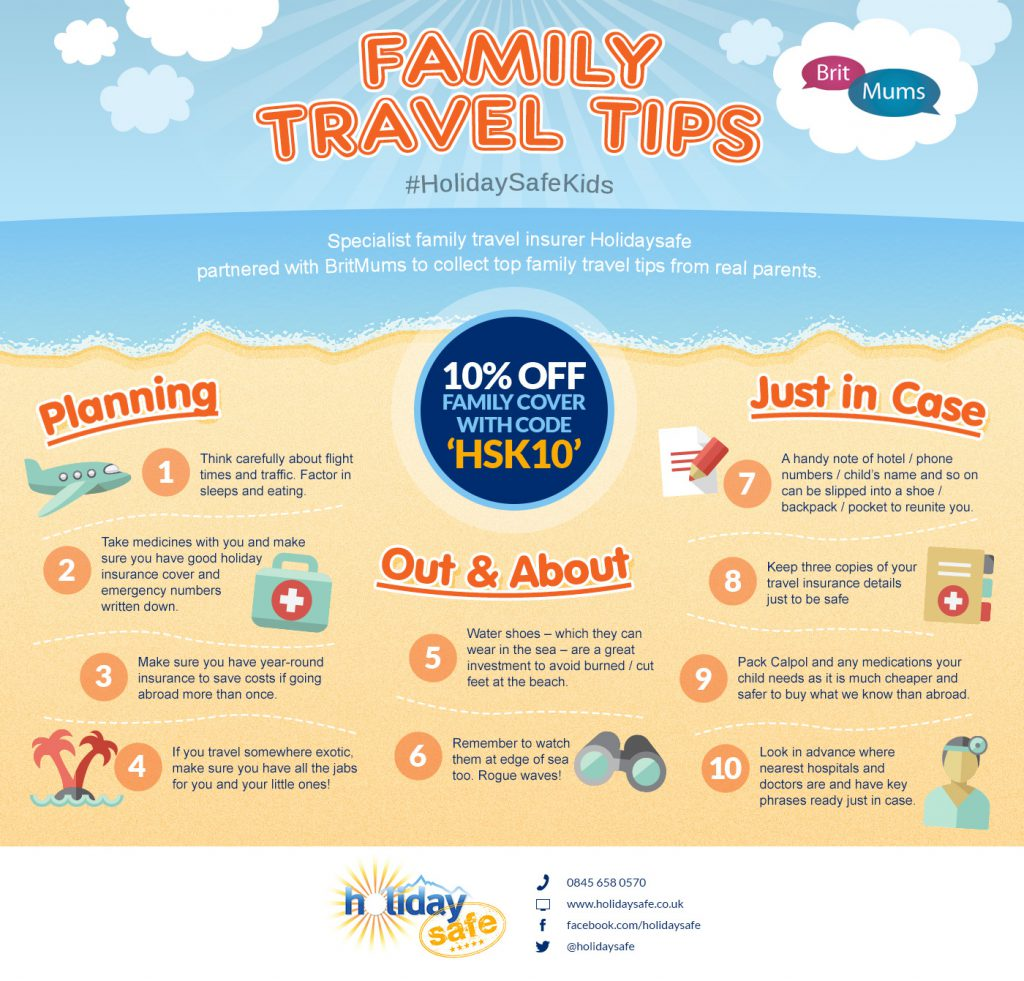 Top Family Travel Tips Infographic Holidaysafe