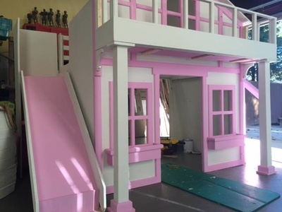 House Bed with Balcony  Holidays Custom Kids Beds