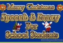 happy christmas speech,essay for school students image