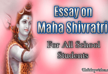 Essay on Maha Shivratri for School Students