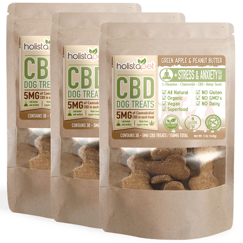 Bundle 3 CBD Dog Treats Stress & Anxiety Relief