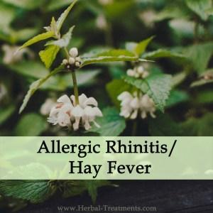 Herbal Medicine for Allergic Rhinitis or Hay Fever