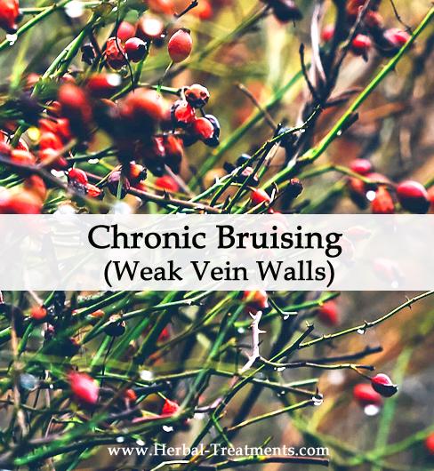 Herbal Medicine for Chronic Bruising & Weak Vein Walls