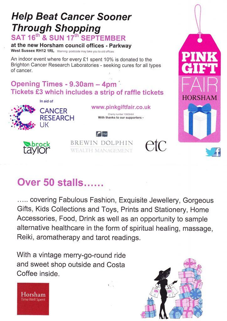 Pink Gift Fair Horsham 2017