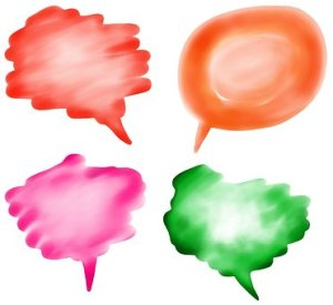 colourful self talk speech bubbles