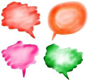 colourful self talk speech bubbles