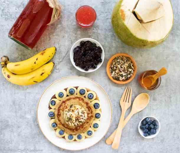 protein pancakes ready to serve