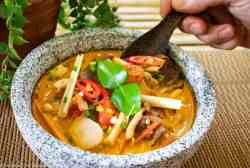 Tom Yum Soup ready to eat