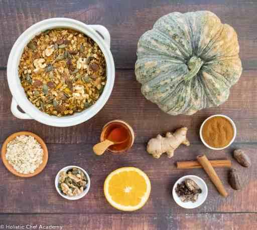 pumpkin pie baked oats ingredients
