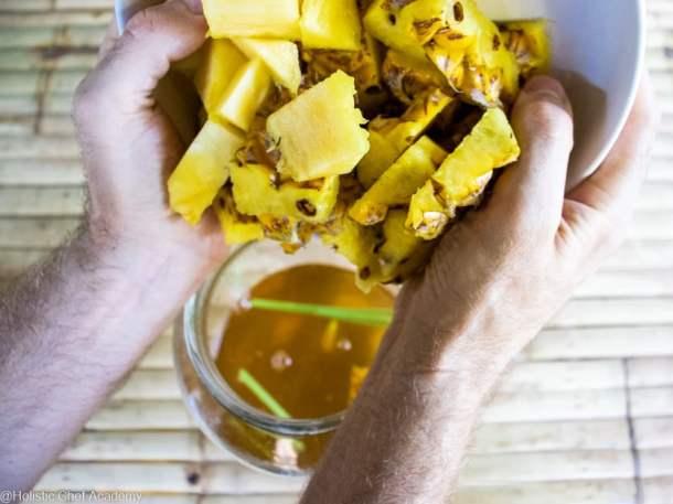 pineapple tepache brewing