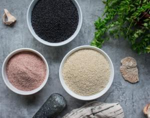 raw ingredients for making gomashio