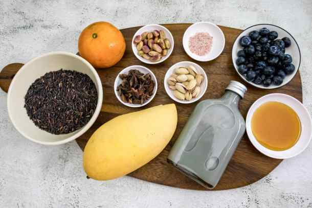 ingredients-laid-out-for-making-riceberry-pudding