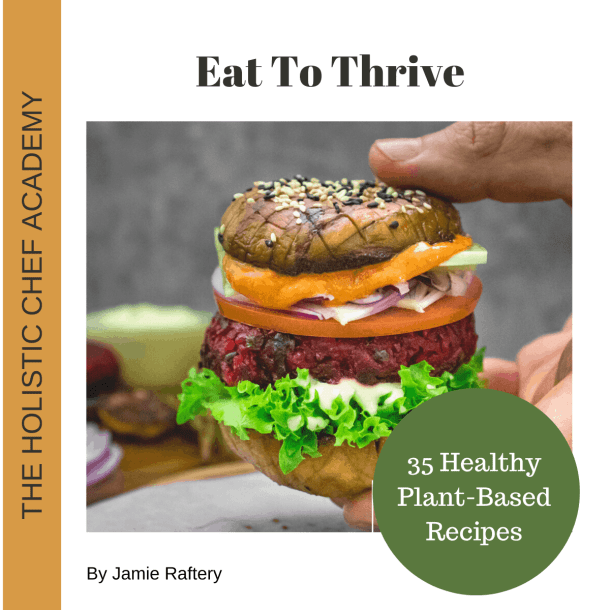 eat-2-thrive-recipe-ebook-cover-page-with-vegan-burger-on-front