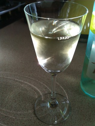 January: Sharing a glass of wine with friends