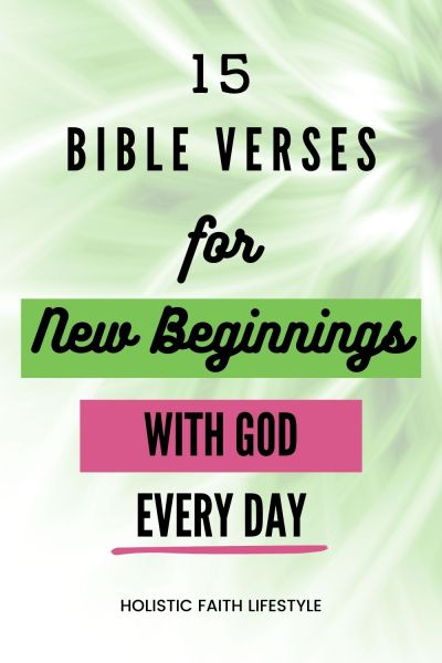 new beginnings with God