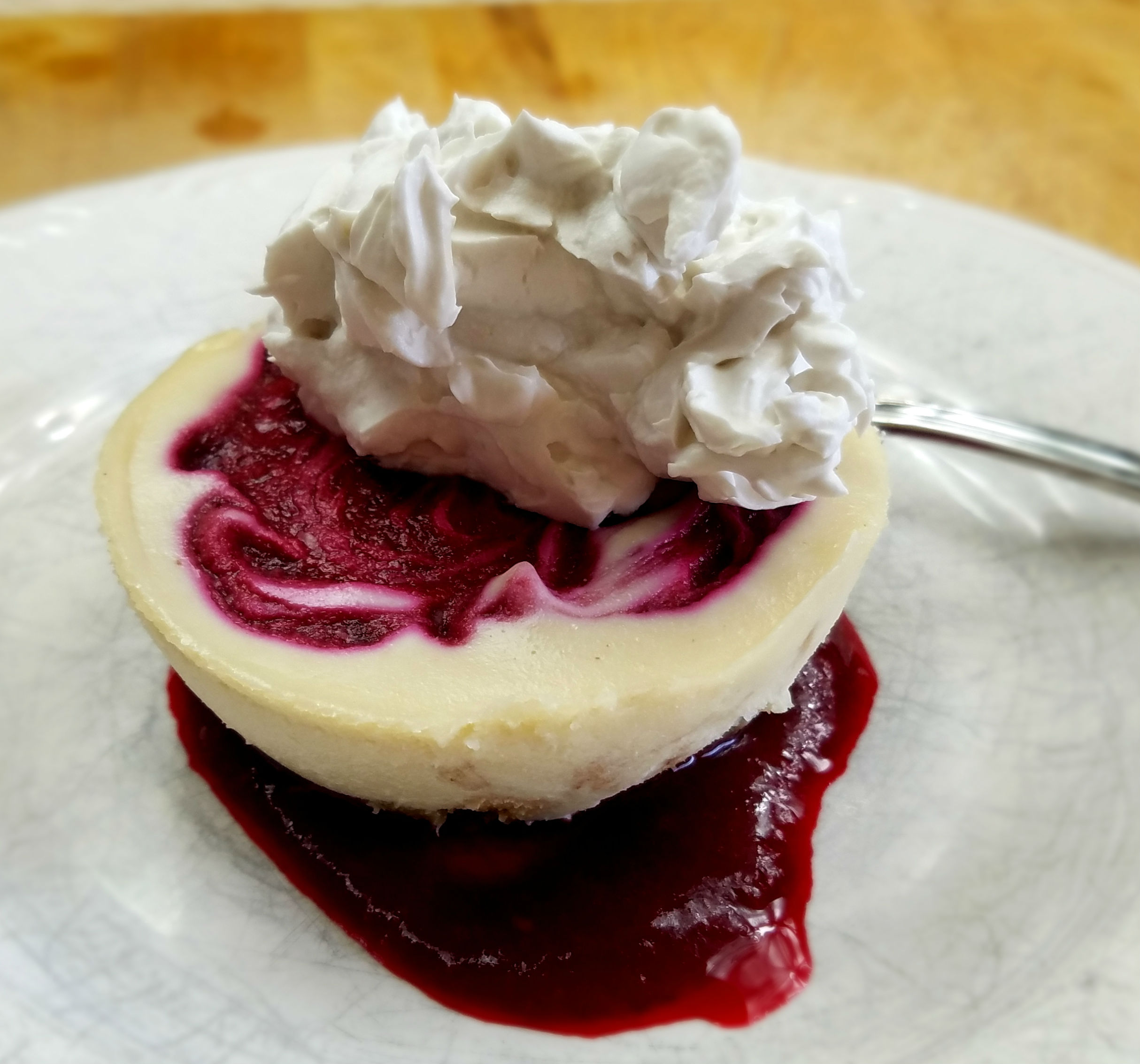 White Chocolate Raspberry Cheesecake-Vegan-FB