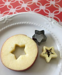 Allergy-free apple snack cut-out