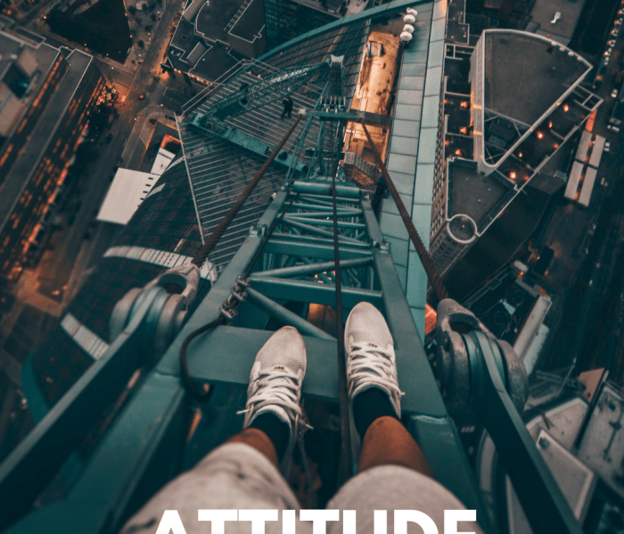 I've Got A Brand New Attitude – A Positive One.