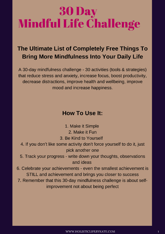 30 Day Mindful Life Challenge
