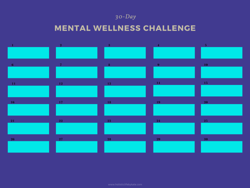 30-day mental wellness challenge