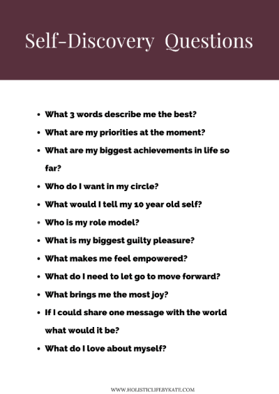 Self-discovery questions to ask yourself