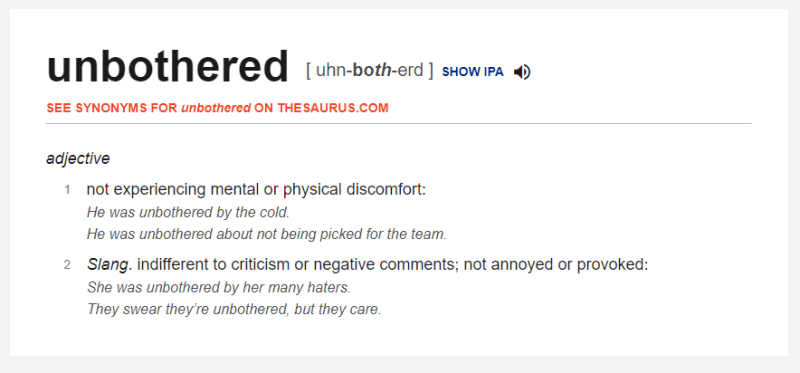 www.dictionary.combrowseunbothered